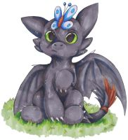 Toothless Chibi by DawnGyocry