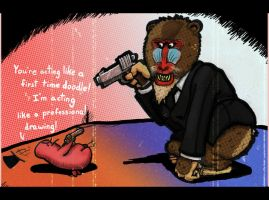 Mr Pink and Mr Mandrill by SinfulFreedom