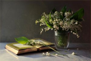 Still life with lilies of the valley by mariall