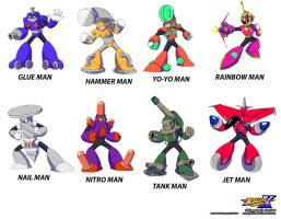 MMUnlimited  Old Robot Masters by MegaPhilX