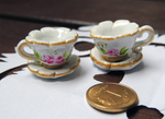 Roses and gold china set: Cups by kabatt
