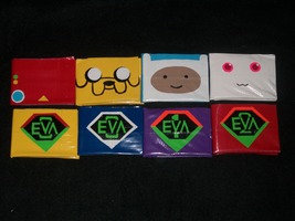 Duct tape Wallets Group 4 by PracticallyGeeky