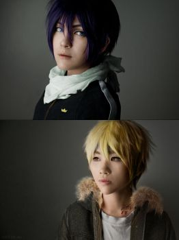 Noragami: Yato and Yukine by behindinfinity