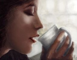 Coffee For One by InkDrone