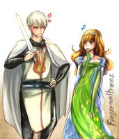 Princess Hermione and Her Royal Knight Draco 2 by fingernailtreez