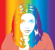 Rainbow Vector Self Portrat by SqueezeBoxx