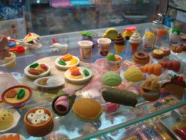 Food Erasers by LadyMingYee