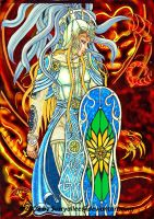 Glorfindel and Balrog Color by Suryallee