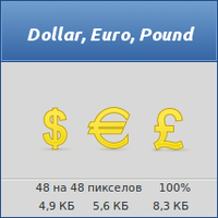 Dollar, Euro, Pound by vicing