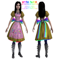 -OUTDATED- Alice Nyan Cat Dress by Lilacatz