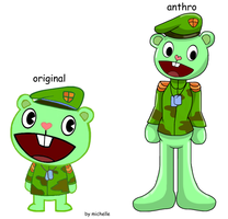 Happy Tree Friends: Flippy by michelle-bandi-wolf