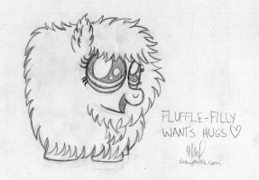 Fluffle Puff Filly by drawponies