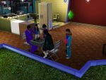 Sims 3 - Kitty challenges Eugene at chess game by Magic-Kristina-KW