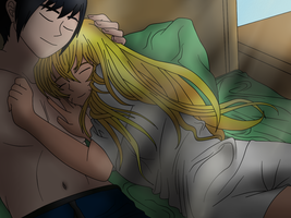 Naruko and Sasuke - Cuddle Bugs - Colored by MSU82