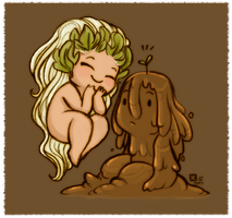 Little Mudman and Spring by StressedJenny