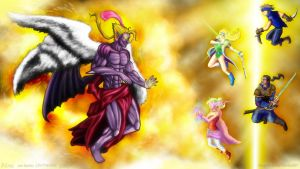 Kefka Final Boss Form by Anagram-Daine