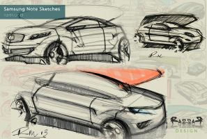 Samsung Note S Pen Sketches by Razza10
