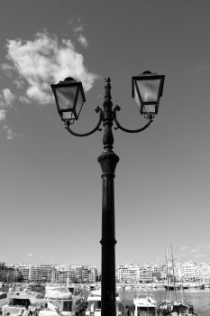 BW Lamppost by FootAches