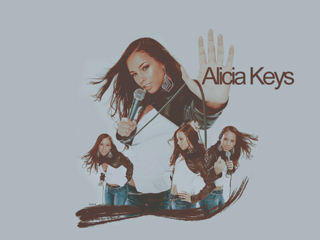 Alicia Keys Collage by Marssie