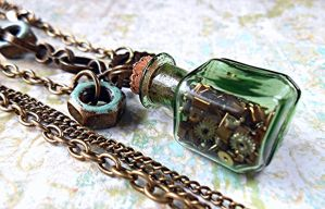 Steampunk Tinker Jewelry Set by random-wish