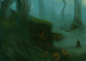 Little village in the forest by Spankye
