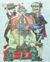 Gorillaz Portrait by 2-Dcrazy