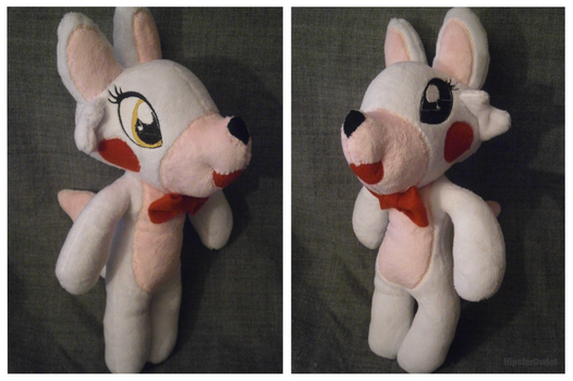 Handmade Puppet-Style Mangle Plushie by HipsterOwlet