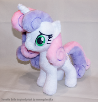 Adult Sweetie Belle inspired plush by mmmgaleryjka