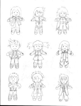 Tales of Symphonia - Plushies by KayiRowling