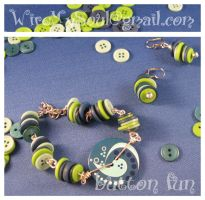 Fun Button Bracelet Set by WireMySoul
