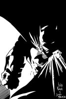 Batman Andy Kubert n ME Inks by JamesLeeStone
