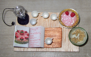 WIP: Raw Strawberry Pie - Prep Board by sonickingscrewdriver