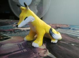 One-Tailed Keaton Clay Figure by FayeleneFyre