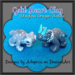 New Baby Dragons design by Adoptxx by Gold-Heart-Clay