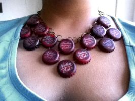 Nuka Cola Necklace by appleofecstacy
