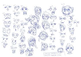 Funny Faces by RemiLatour