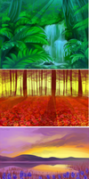 buncha backgrounds by ivymaid