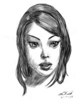 Drawing Day 08 Portrait by digistyle