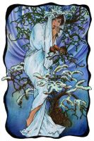 Mucha's Seasons - Winter by Niuta71