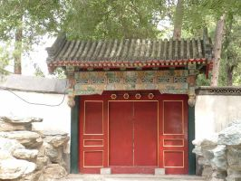 Chinese Gate by Green-Ocean-Stock