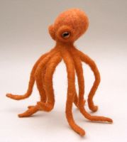 Needlefelted Octopus by creturfetur