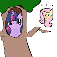 Twilight Trying To Be A Tree by StarShineTheAlicorn