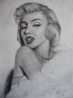 Marilyn Monroe Pencil Drawing by GTracerRens