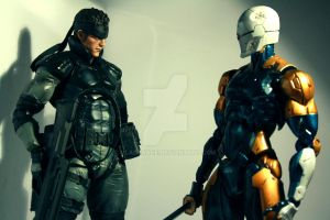 Solid Snake and Gray Fox figures 02 by Vladsnake