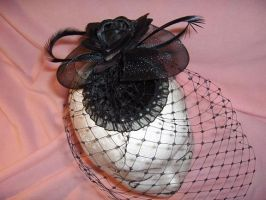 Fascinator veil goth style by nashimiron