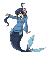 Commission - Fuuko Mermaid by BOAStudio