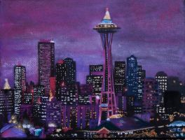 Seattle Skyline by Jbareither7