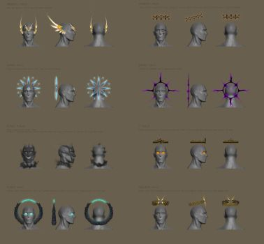 Concepts for alternative Runescape Halos by Fraxuur