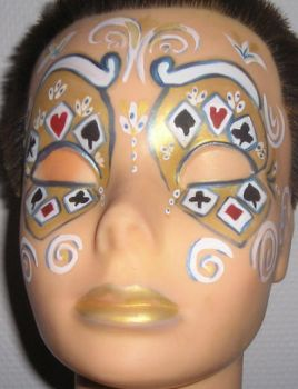 Venetian Play Card Mask by connyberghmans