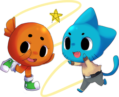 GUMBALL AND DARWIN by Akatsuki-Perv